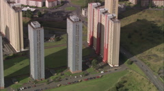 AERIAL United Kingdom-Glasgow Stock Footage