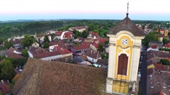 AERIAL Szentendre, Hungary, Europe Stock Footage