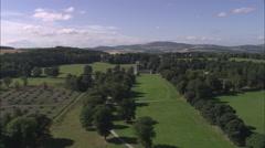 AERIAL United Kingdom-Castle Fraser Stock Footage