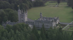 AERIAL United Kingdom-Balmoral Castle Stock Footage