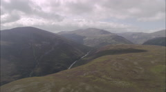 AERIAL United Kingdom-Cairngorms Stock Footage