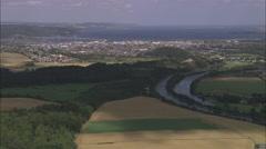 AERIAL United Kingdom-Inverness - stock footage
