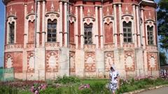 New Nikolsky Cathedral of Mozhaysk Kremlin, Moscow Region. Stock Footage