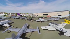 Aerospace Museum of California. Aerial view. Stock Footage