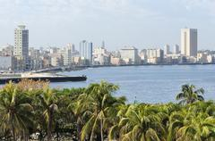 View of the districts of Centro Habana and El Verdado Havana Ciudad de La Stock Photos