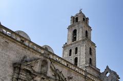 Steeple church Basilica Menor de San Francisco Plaza San Francisco de Asis La - stock photo