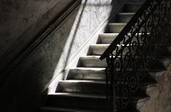 Stairs stairway historic centre Havana Ciudad de La Habana Cuba North America - stock photo