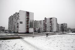 Flats built for the survivors of the Chernobyl disaster Slavutych Ukraine Europe Kuvituskuvat