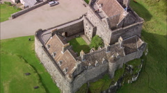 AERIAL United Kingdom-Duart Castle Stock Footage