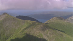 AERIAL United Kingdom-Isle Of Mull And Mountains Stock Footage