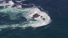 AERIAL United Kingdom-Island Of Islay Stock Footage