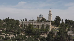 Mount Zion Dormition Abbey Stock Footage