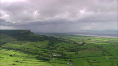 AERIAL United Kingdom-Coast And Landscape Around Lough Foyle - stock footage