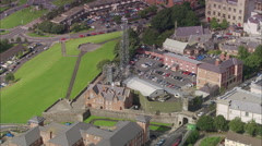 AERIAL United Kingdom-Derry Stock Footage