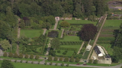 AERIAL Ireland-Stokestown House Stock Footage