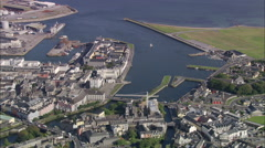 AERIAL Ireland-Galway - stock footage