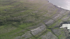 AERIAL Ireland-Landscape And Small Dock At Ballaghaline Stock Footage
