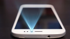 Futuristic Technology of New Message on Smart Phone. Hologram Interface Concept Stock Footage