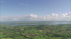 AERIAL Ireland-Shannon Estuary Stock Footage
