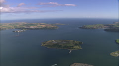 AERIAL Ireland-Cork Harbour Stock Footage