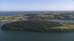 AERIAL Ireland-Crosshaven Marina Stock Footage
