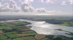 AERIAL Ireland-Lough Mahon And Belvelly Channel Stock Footage