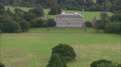 AERIAL Ireland-Castletown House Stock Footage