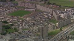 AERIAL Ireland-Dublin's Residential Estates Stock Footage