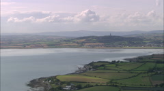 Approaching Newtownards Airfield Stock Footage