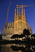 Sagrada Familia Holy Family Church of the Atonement by architect Antoni Gaudi Stock Photos