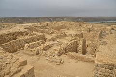 Stock Photo of Excavation field of Sumhuram near Taqah Dhofar Region Orient Oman Asia