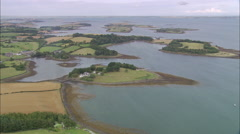 AERIAL Ireland-Ancient Hill Fort Of Tara Stock Footage