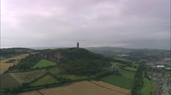 AERIAL United Kingdom-Scrabo Tower, Newtownards Stock Footage