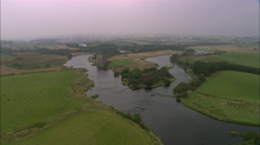 AERIAL United Kingdom-Threave Castle, Near Castle Douglas - stock footage