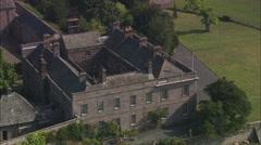 AERIAL United Kingdom-Dalemain House Stock Footage