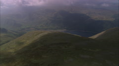 AERIAL United Kingdom-Thirlmere And Wanthwaite Crags Stock Footage