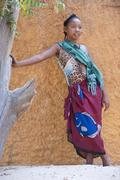 Malagasy girl 1516 years Morondava Toliara province Madagascar Africa - stock photo
