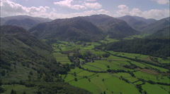 AERIAL United Kingdom-Borrowdale Fells Stock Footage