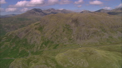 AERIAL United Kingdom-Hardknott And Wrynose Passes Stock Footage