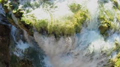 Stock Video Footage of Water seethes during falls from precipice in Grand Canyon