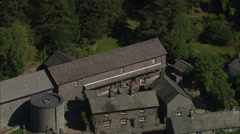 AERIAL United Kingdom-Dove Cottage And Wordsworth Centre Stock Footage