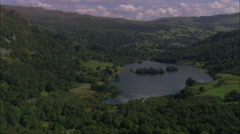 AERIAL United Kingdom-Grisedale And Glenridding Stock Footage