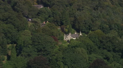 AERIAL United Kingdom-Landscape South Of Carlisle And M6 Stock Footage