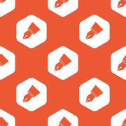 Orange ink pen nib pattern - stock illustration