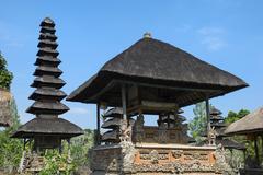 Pura Taman Ayun Temple Bale wood pavilion and Meru pagoda Mengwi Bali Indonesia Stock Photos