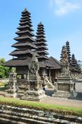 Pura Taman Ayun Temple Meru pagoda Mengwi Bali Indonesia Asia - stock photo