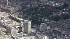 AERIAL Denmark-Copenhagen - Sas Hotel/Arne Jacobsen - stock footage
