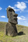 Moai in Rano Raraku Rapa Nui National Park Unesco World Heritage Site Easter Stock Photos