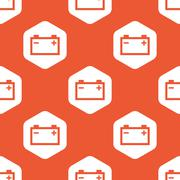Orange hexagon accumulator pattern Stock Illustration