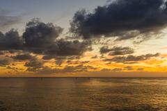 Pacific Ocean at sunset Hanga Roa Rapa Nui National Park Easter Island Chile Stock Photos
